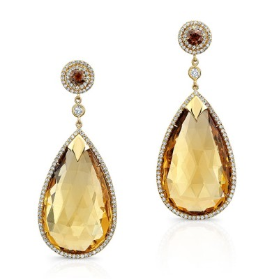 Golden Citrine Earrings
