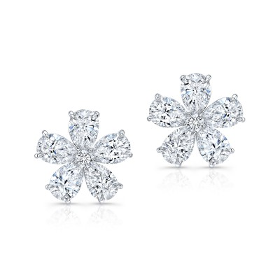 Round And Pear Shape Studs