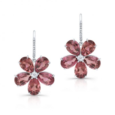 Tourmaline Flower Earrings