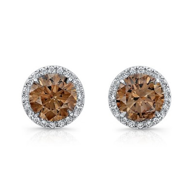 Cognac Diamond Studs