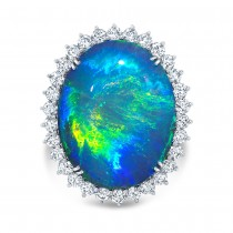 Oval Opal Fashion Ring