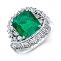 Emerald Cut Radiant With Multi-Stone Fashion Ring