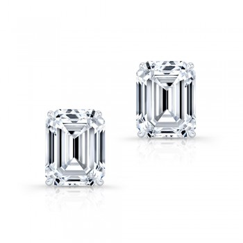 Emerald Diamond Studs